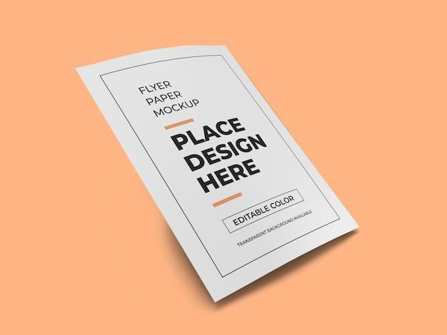 Modèle de maquette de papier flyer réaliste isolé