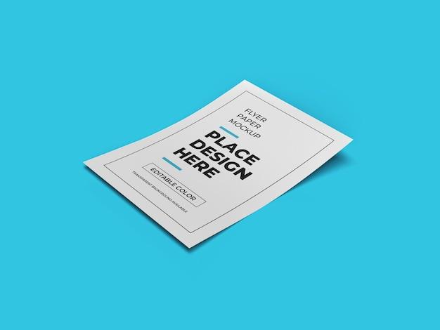 Modèle de maquette de papier flyer