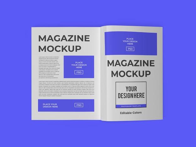 Modèle de maquette de papier de livre de magazine psd isolé
