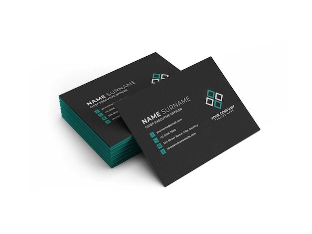 Modèle de maquette de pile de cartes de visite