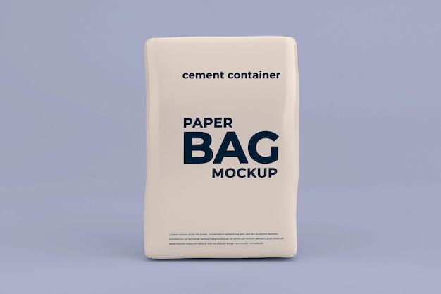 Modèle de maquette de poche de ciment réaliste