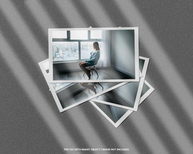 Modèle de maquette polaroid de cadre photo en papier psd premium