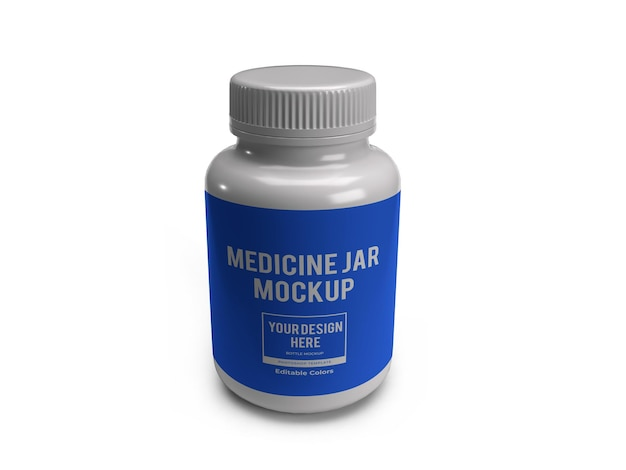 Modèle de maquette de pot de bouteille de médecine réaliste isolé