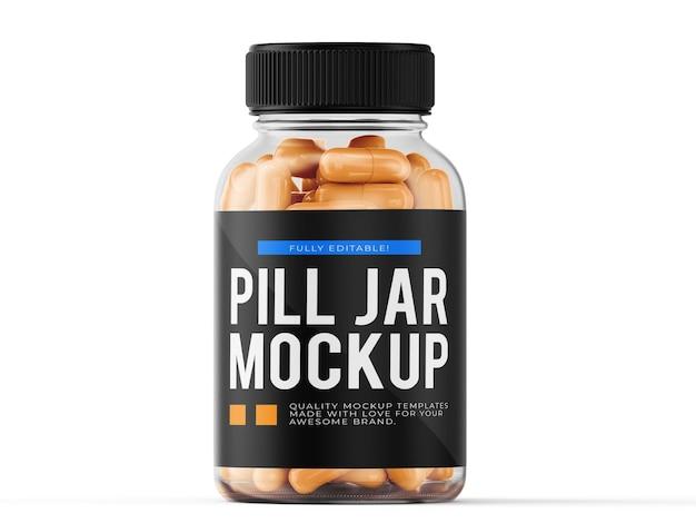 Modèle de maquette de pot de pilule