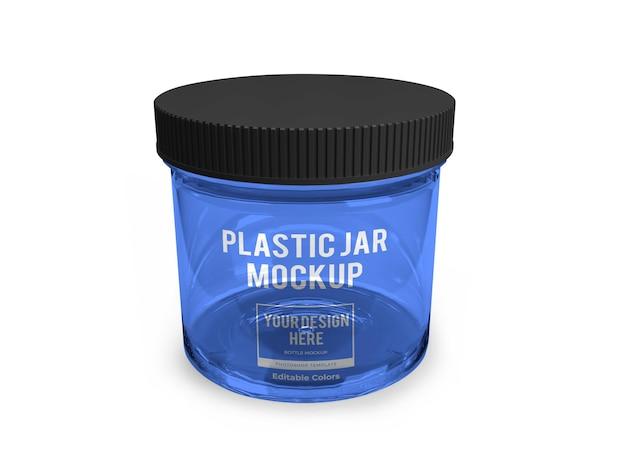 Modèle de maquette de pot en plastique réaliste isolé