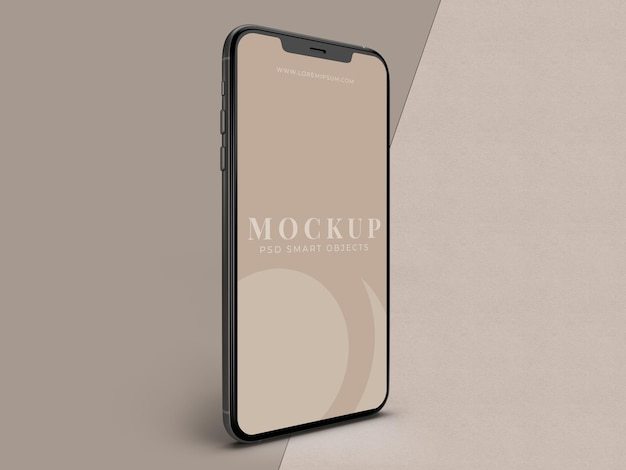 Modèle de maquette de smartphone mobile pour l'entreprise mondiale d'identité de marque