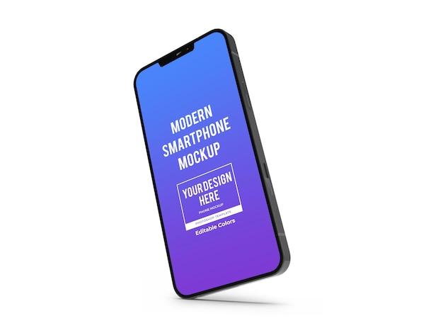 Modèle de maquette de smartphone moderne réaliste isolé