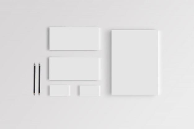 Modèle de maquette stationnaire de marque