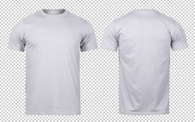 Modèle de maquette de t-shirt gris avant et arrière pour votre conception.
