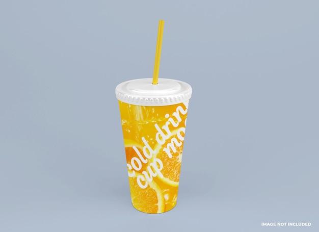 Modèle de maquette de tasse de boisson au jus froid