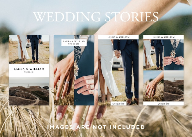 Modèle de mariages histoires instagram