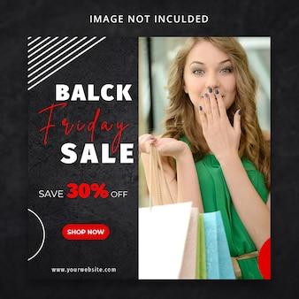 Modèle de médias sociaux black friday fashion sale sale