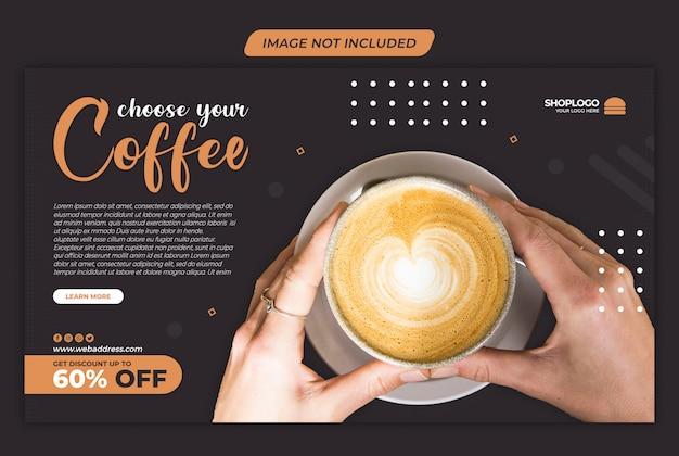 Modèle de médias sociaux instagram de vente de café psd premium