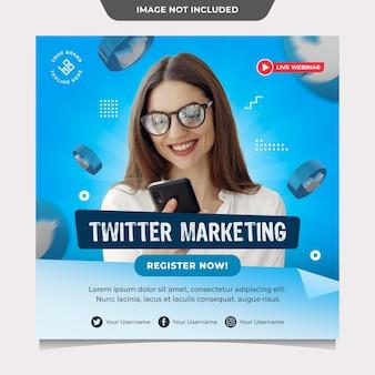 Modèle de médias sociaux de marketing twitter