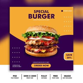 Modèle de médias sociaux post story story food restaurant burger