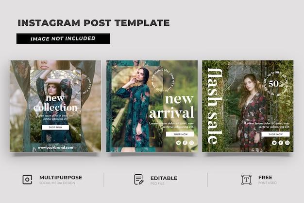 Modèle de médias sociaux de style de mode d'automne