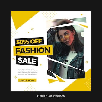 Modèle de médias sociaux de vente de mode