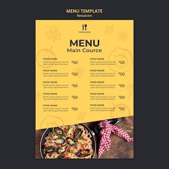 Modèle de menu concept brunch