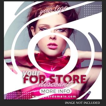 Modèle de message instagram pour les ventes, les achats, le magasin, la campagne, le concept de collection