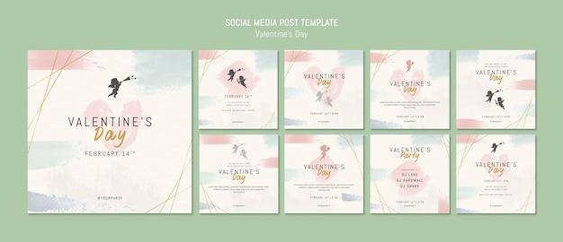 Modèle de message sur les médias sociaux pour la saint-valentin