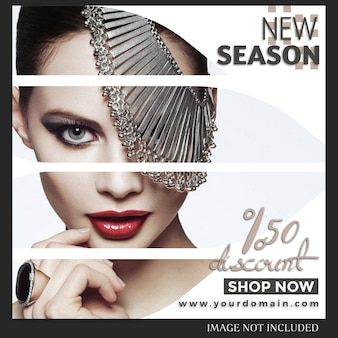 Modèle de message de mode de vente instagram