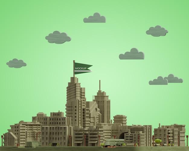 Modèle de miniatures de villes