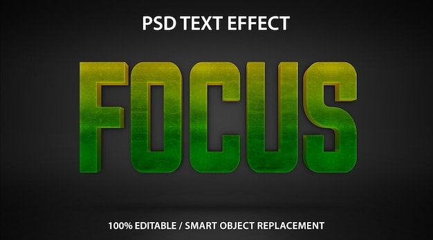 Modèle de mise au point d'effet de texte