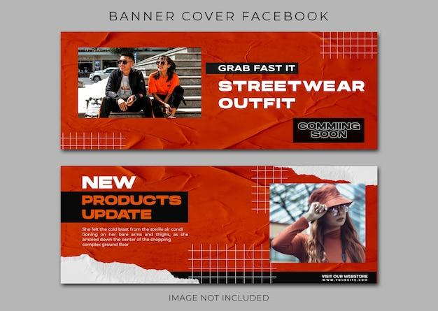 Modèle de mode urbaine de page de garde facebook