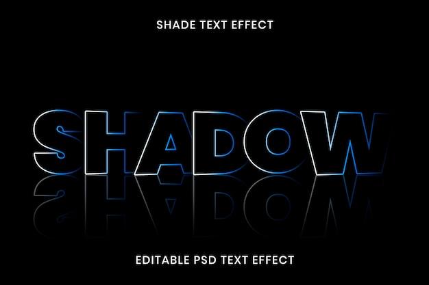 Modèle modifiable d'effet de texte d'ombre psd