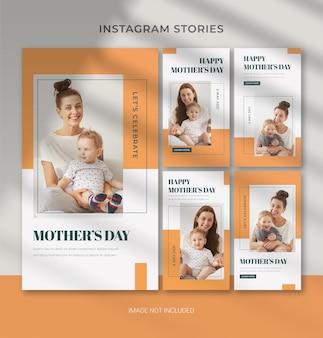 Modèle modifiable de fête des mères pour la bannière d'histoire instagram de médias sociaux