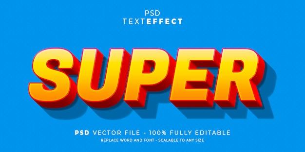 Modèle modifiable de style super texte et effet de police