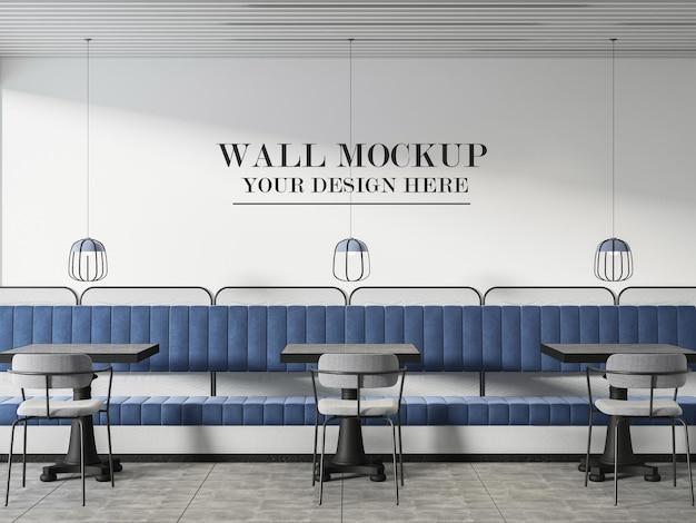 Modèle de mur de café moderne