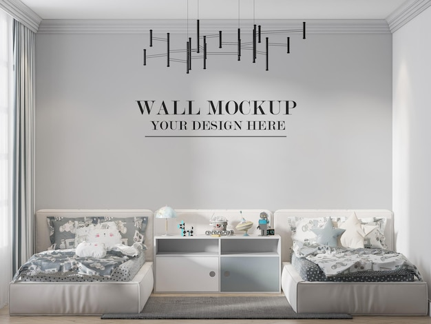 Modèle de mur de chambre à deux lits