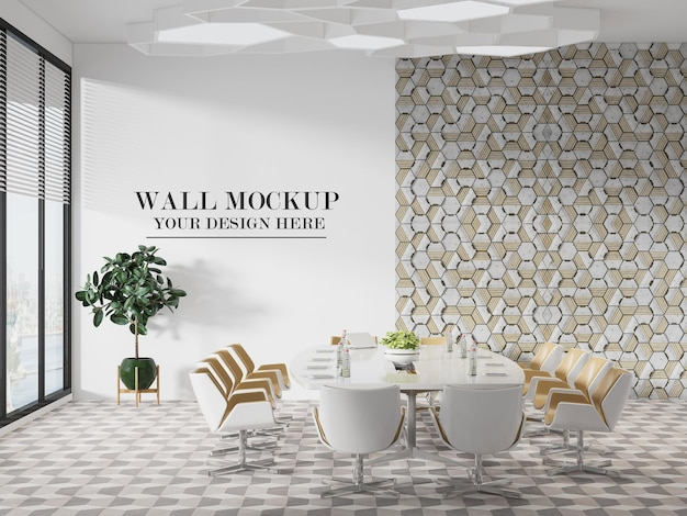 Modèle de mur de salle de réunion moderne et lumineux