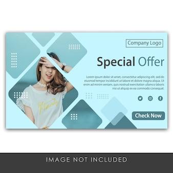 Modèle d'offre spéciale bannière