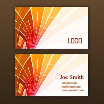 Modèle orange de carte de visite
