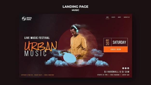 Modèle de page d'accueil de musique urbaine