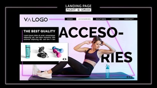 Modèle de page d'atterrissage pour l'entraînement de fitness