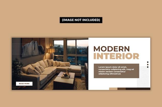 Modèle de page de couverture facebook de meubles