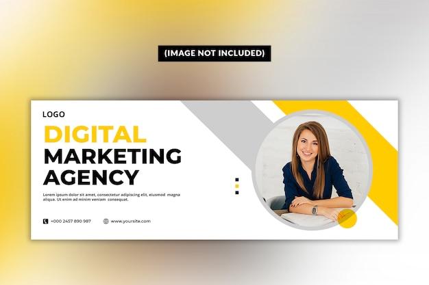 Modèle de page de couverture facebook pour agence de marketing numérique