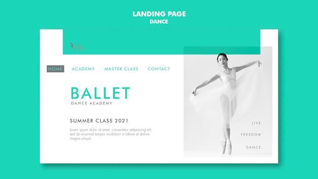 Modèle de page de destination de l'académie de danse