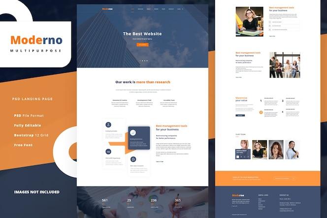 Modèle de page de destination de l'agence commerciale pour les services financiers