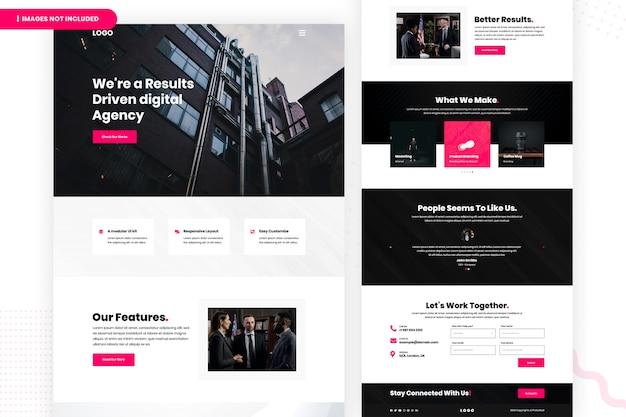 Modèle de page de destination d'agence numérique