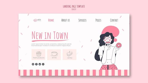 Modèle de page de destination d'annonce de boulangerie