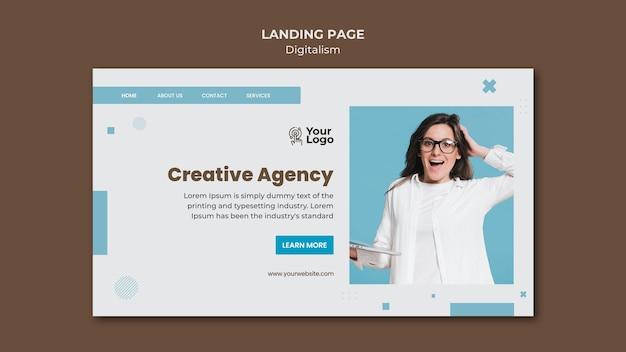 Modèle de page de destination d'annonce professionnelle