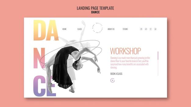Modèle de page de destination de l'atelier de danse