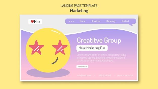 Modèle de page de destination de l'atelier marketing