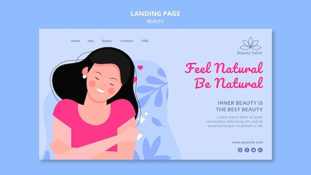 Modèle de page de destination de beauté illustré