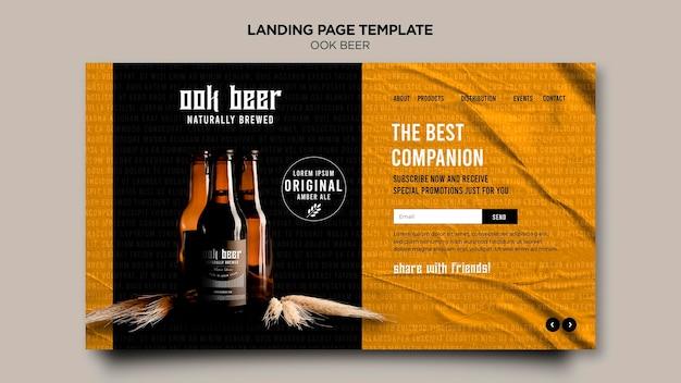 Modèle de page de destination de la bière ook