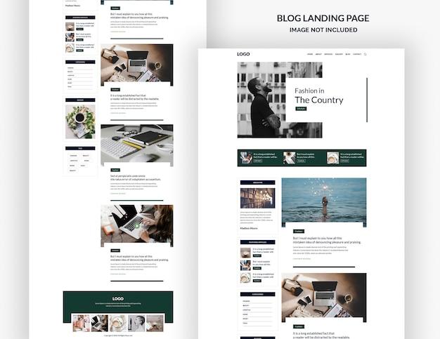 Modèle de page de destination de blog